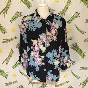 Emma James Floral Blazer Size 16W